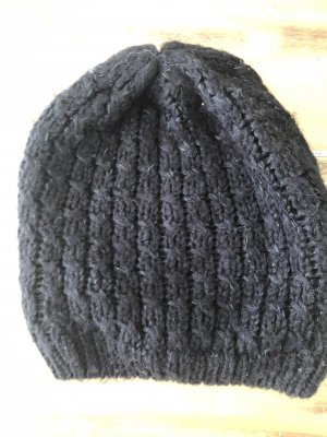 H&M Knitted Hat black-silver-colored