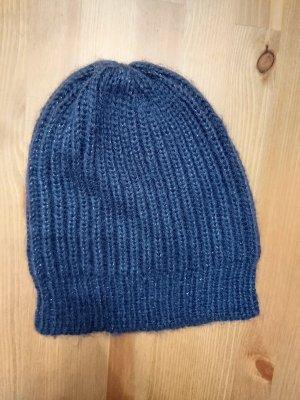 Mexx Chapeau en tricot bleu foncé