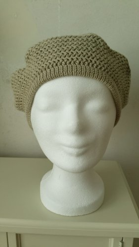 Seeberger Knitted Hat beige-camel