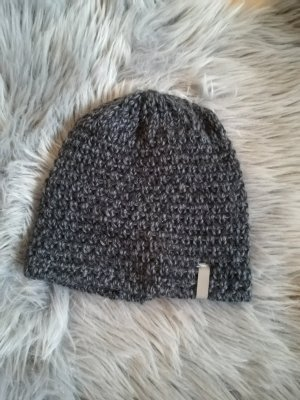 H&M Sombrero de punto gris antracita Poliéster