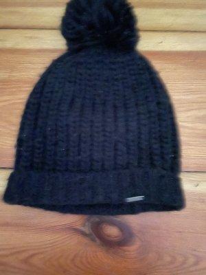 Abercrombie & Fitch Sombrero de punto azul oscuro