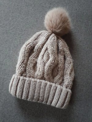 H&M Knitted Hat dusky pink