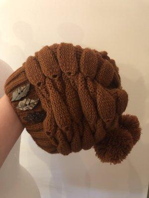 Cappello a maglia ruggine