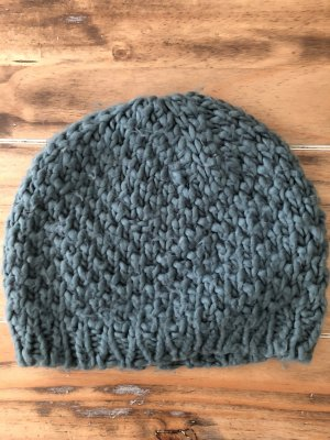 H&M Knitted Hat petrol-cadet blue