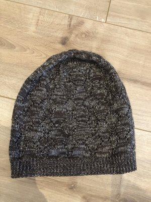 Cappello a maglia marrone chiaro-bronzo