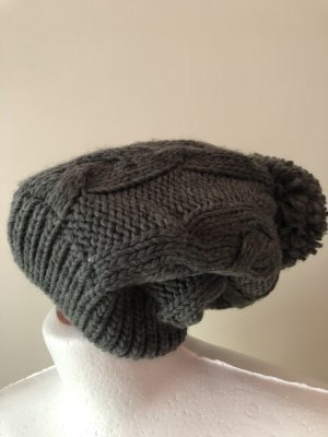 Primark Bobble Hat grey-natural white