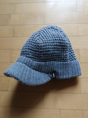 Barts Chapeau en tricot gris