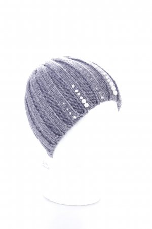 Knitted Hat grey Pearl Ornaments