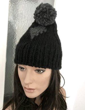 Zara Knitted Hat black-grey wool