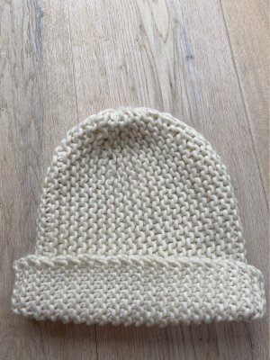 H&M Divided Knitted Hat cream-natural white