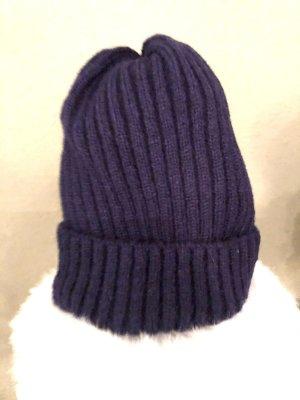 Knitted Hat dark blue-blue