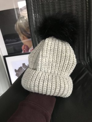 Bobble Hat oatmeal-black