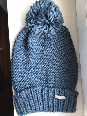 Bench Chapeau en tricot bleu pétrole