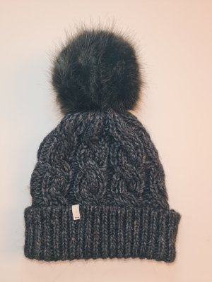 Esprit Knitted Hat dark grey-anthracite