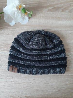 Amazon fashion Cappello a maglia nero-grigio