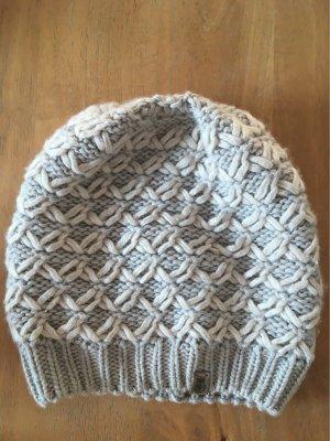 Roeckl Cappello a maglia argento-bianco sporco