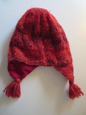 Wigens Chapeau d'aviateur rouge foncé acrylique