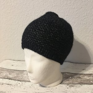 Knitted Hat black-grey