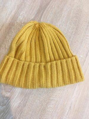 H&M Divided Cappello a maglia giallo