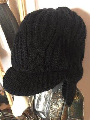 Diesel Chapeau en tricot noir