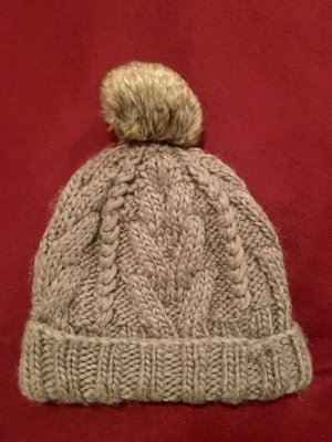 H&M Knitted Hat grey brown