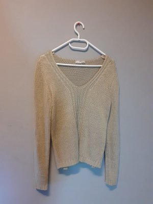 Blue Motion Knitted Top beige