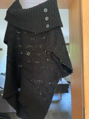 Fijn gebreide cardigan zwart