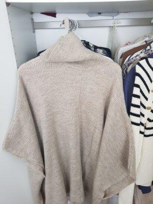 Bershka Poncho en tricot beige clair