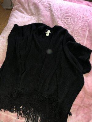 mister*lady Poncho en tricot noir