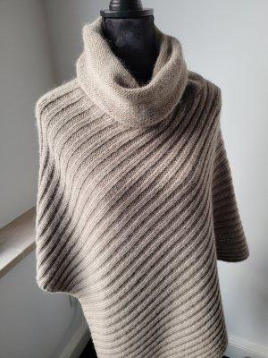 Esprit Poncho en tricot beige mohair