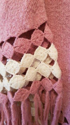 Mango Knitted Poncho dusky pink-pink