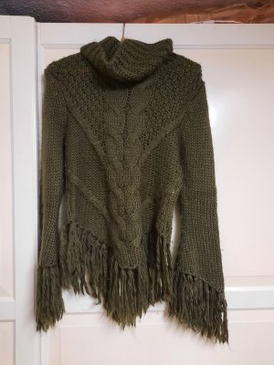Knitted Sweater green grey