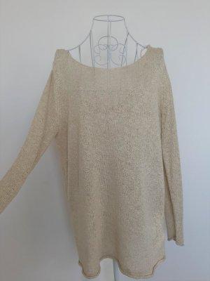 Zara Jersey de punto grueso crema