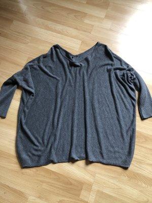 Cardigan en maille fine gris