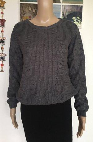 1982 Pull tricoté gris anthracite