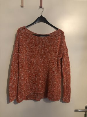 Abercrombie & Fitch Coarse Knitted Sweater red-orange