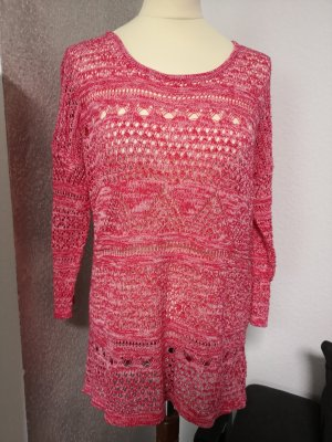 Friendtex Knitted Sweater raspberry-red
