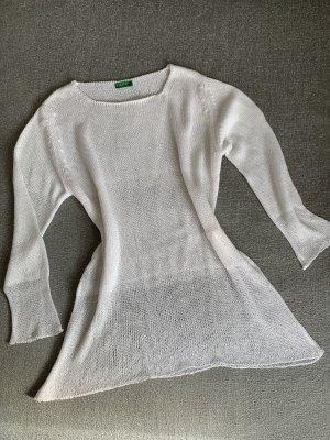 Benetton Sweter z dzianiny biały
