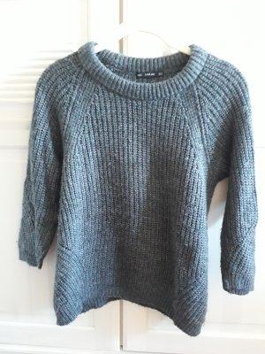 Zara Knit Knitted Sweater dark grey