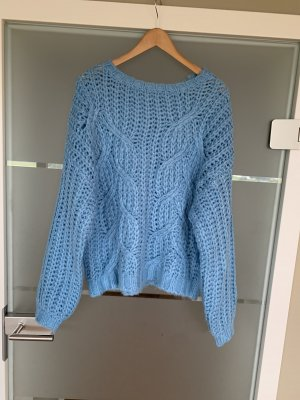 Pieces Knitted Sweater azure