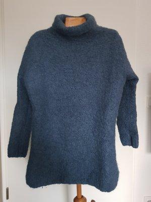 American Vintage Sweter z dzianiny szary niebieski-jasnoniebieski