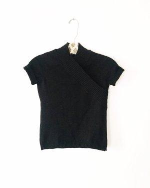 strickpulli • kurzarm pullover • vintage • zara • schwarz • classy • businesslook