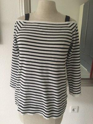 Esprit Sweter z dzianiny biały-czarny