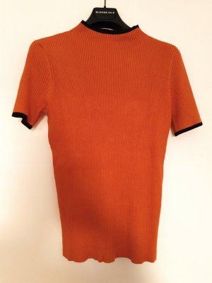 Ashley Brooke Sweater met korte mouwen oranje-zwart Polyester