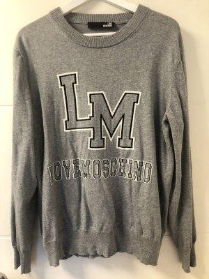 Love Moschino Oversized Sweater grey-white