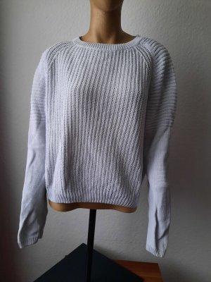 Bella Ragazza Sweter z grubej dzianiny jasnoszary-w kolorze białej wełny