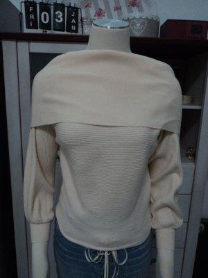 Zara Knit Maglione crema-beige chiaro