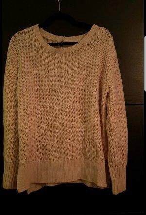 Jean Pascale Pull tricoté rose