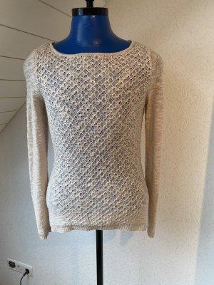 Orsay Pull en crochet beige-vieux rose