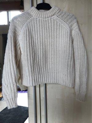H&M Pullover a maglia grossa crema-bianco sporco